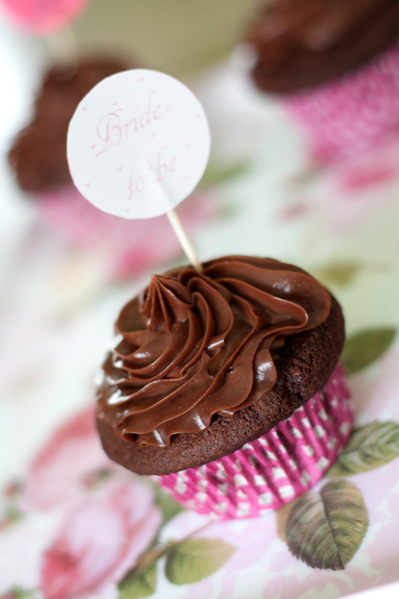 Nutella Cupcakes mit Mascarpone-Topping